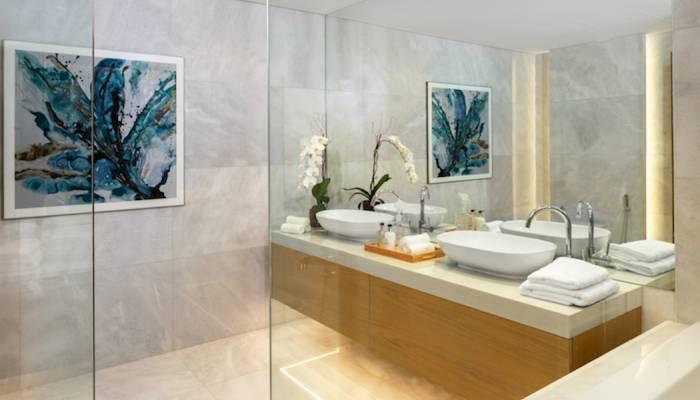 guest bedroom shower area