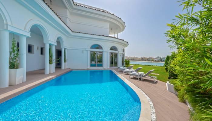 private swimming pool in villa
