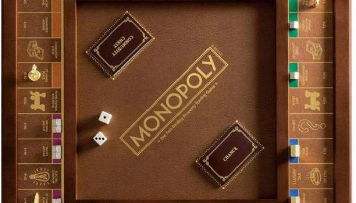 Wooden Board Games Monopoly