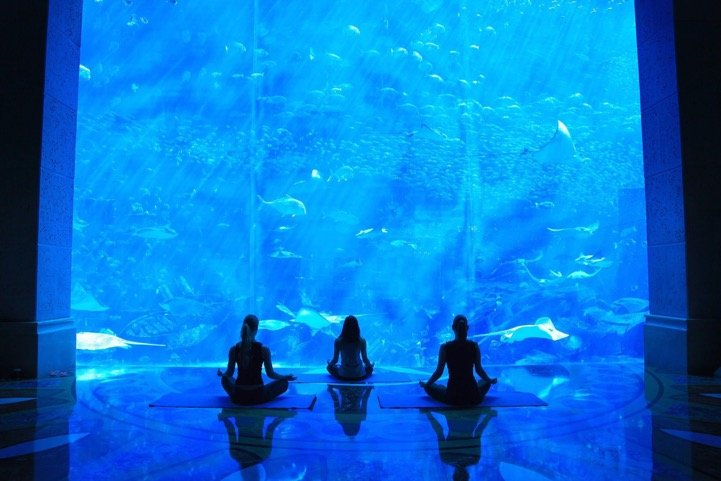 Underwater Yoga at Atlantis The Palm
