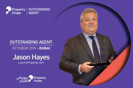 Jason Hayes is Property Finder's Outstanding Agent of the Month in October 2019