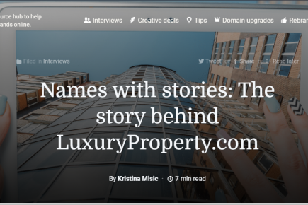 SmartBranding: Names with stories: The Story Behind LuxuryProperty.com