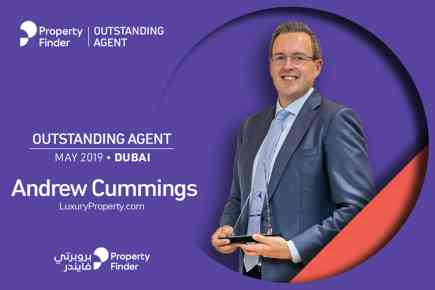 Andrew Cummings is Propertyfinder's Outstanding Agent of the Month in May 2019