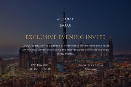 Exclusive Evening Invite - Alliance by Emaar