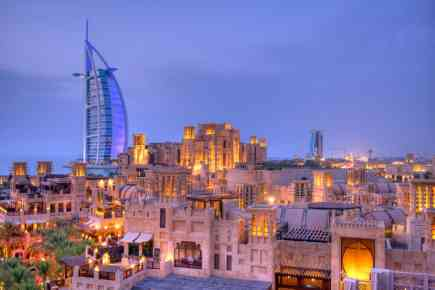Stunning View of The Burj Al Arab From Madinat Jumeirah Living