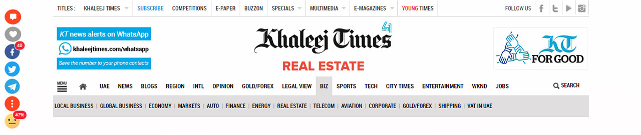 Khaleej Times: House Sells for Dh74m; Here are Dubai's Most Expensive Areas