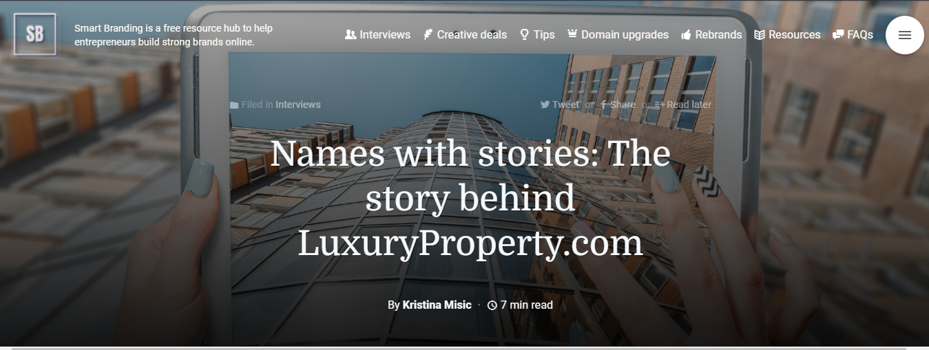 Story Behind LuxuryProperty.com