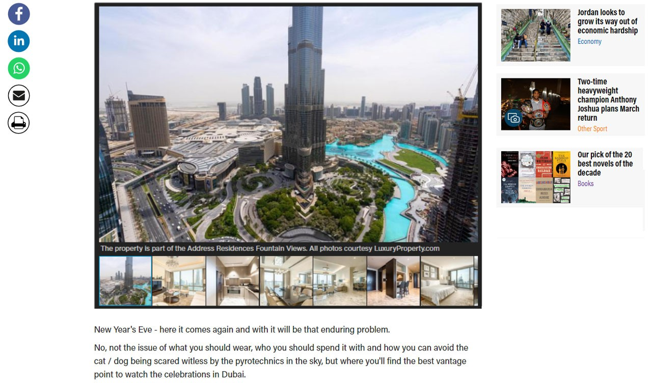 Dh9 million Dubai apartment with the ultimate view of Burj Khalifa