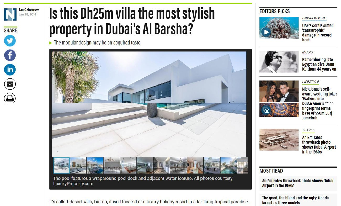 Dh25m villa the most stylish property in Dubai's Al Barsha?
