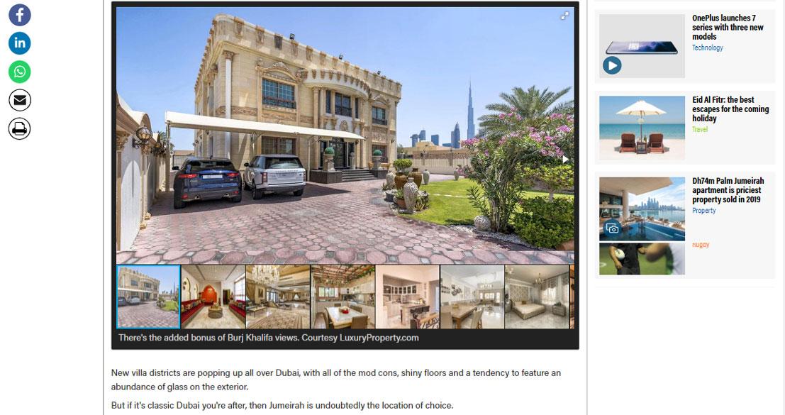 Inside a Dh20 million 'treasure chest' Jumeirah villa in Dubai