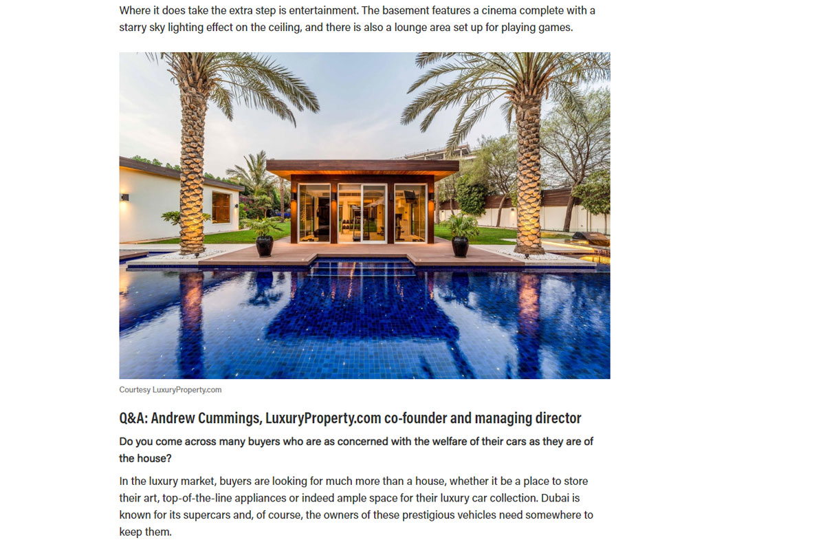 This Dh38 million Dubai villa comes with its own car showroom