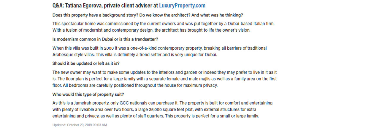 Dubai's most unique property