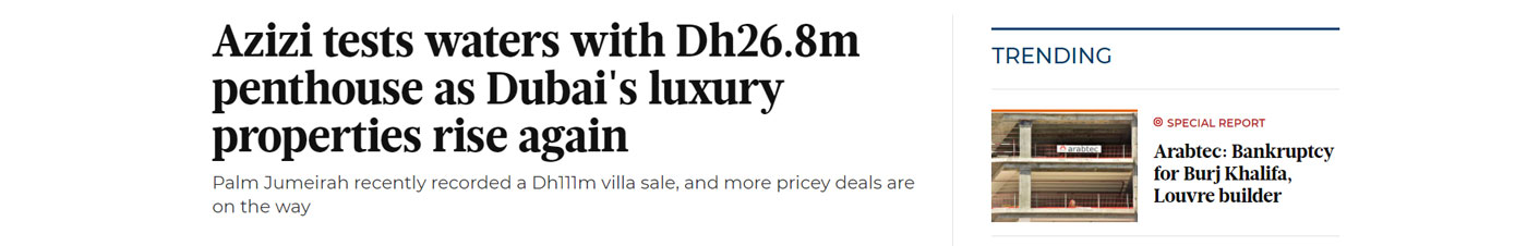 Azizi Luxury Penthouse