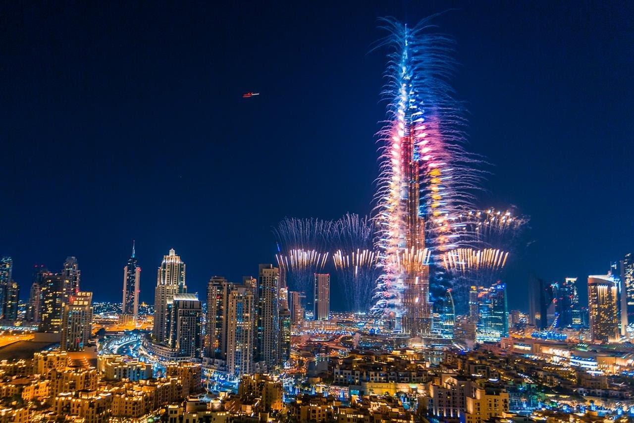 Burj Khalifa New Year Fireworks