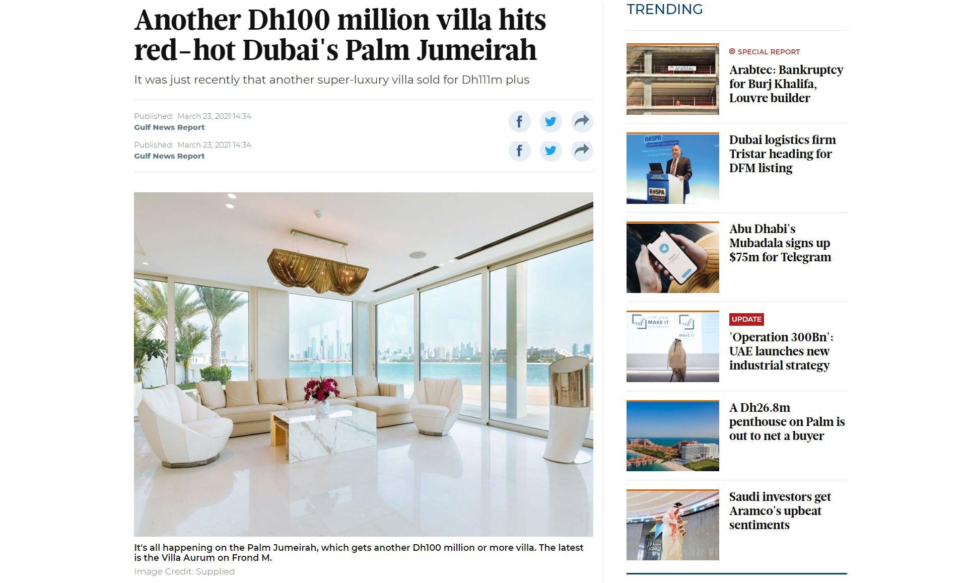 Dh100 million villa