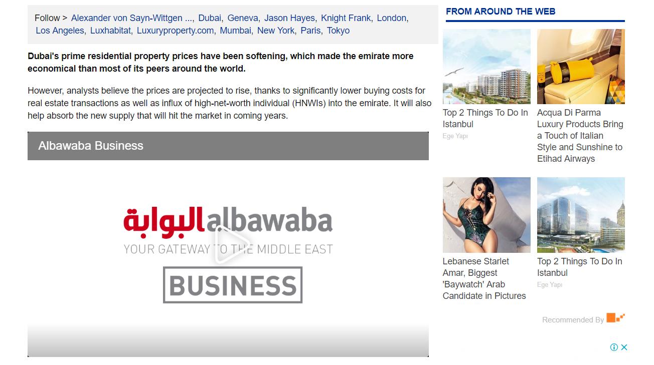 Dubai Prime Property Prices 3