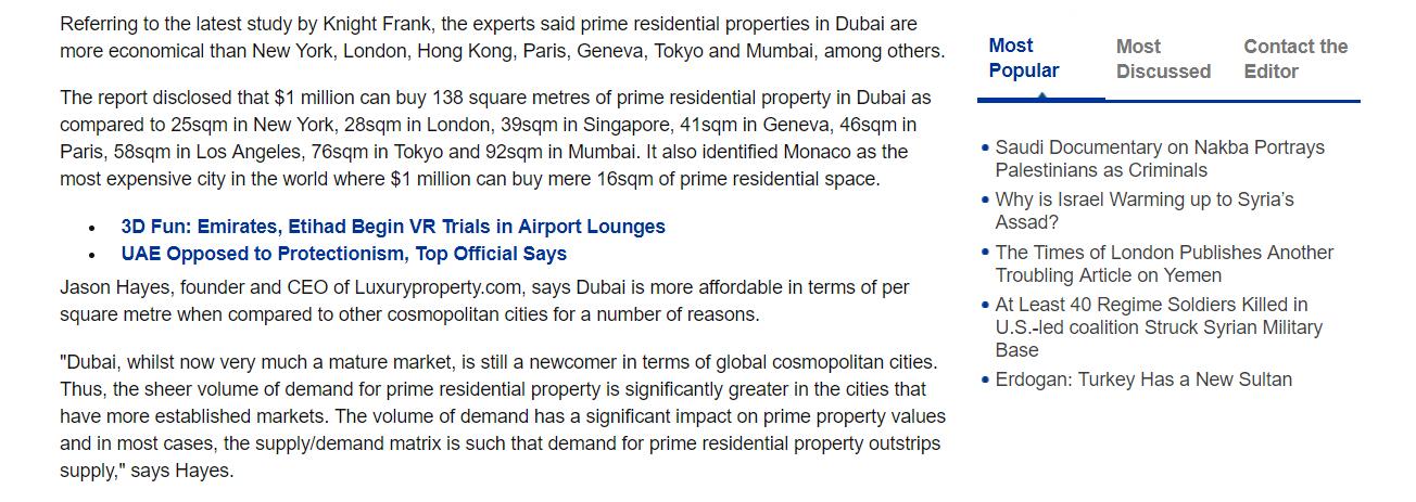 Dubai Prime Property Prices 4