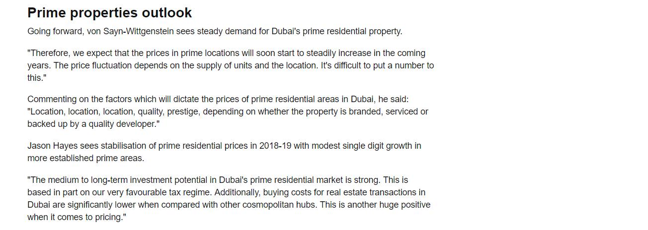 Dubai Prime Property Prices 6