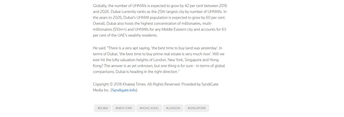 Dubai's prime property prices 09