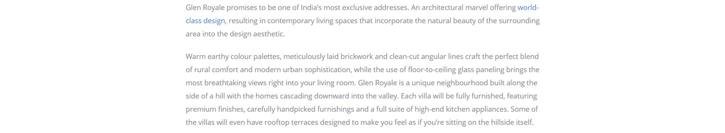 Glen Royale in Panchgani - 2