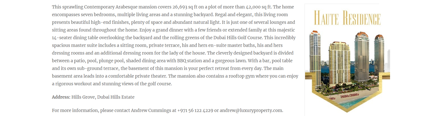 Dubai Hills Mansion with Golf Course Views - 3