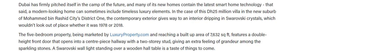 Dh25 million villa in Mohammed bin Rashid City