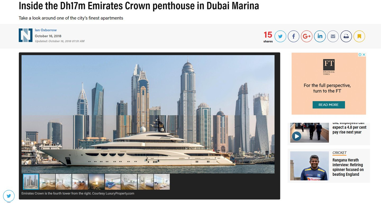 Emirates Crown penthouse
