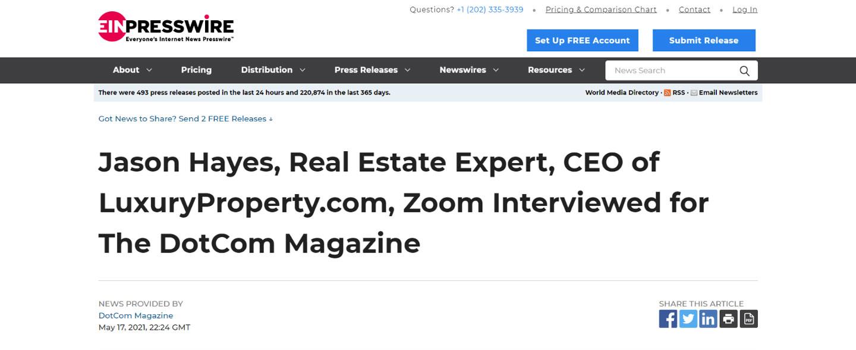 Jason Hayes, Real Estate Expert