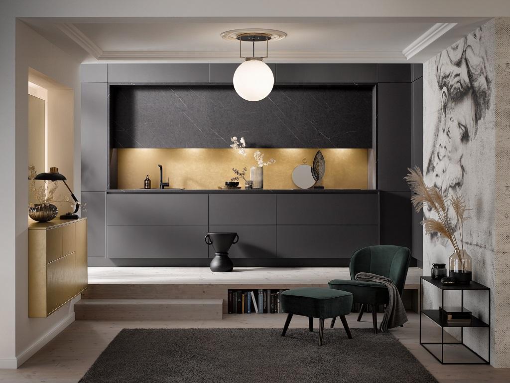 Metallics Kitchens Designs
