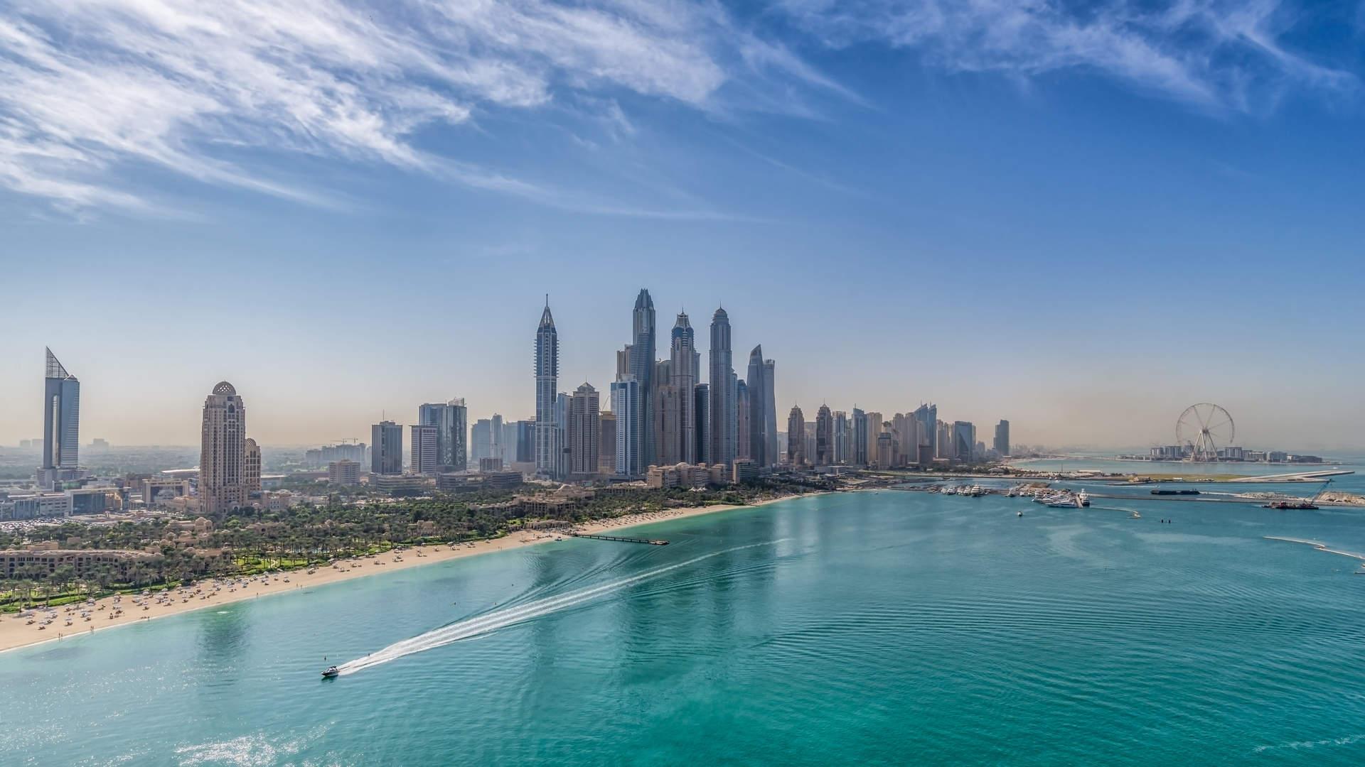 Dubai Marina Waterfront View
