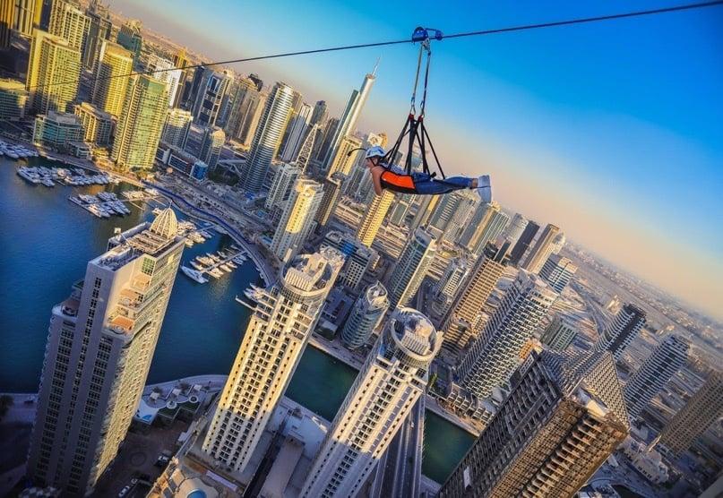 Xline Dubai Marina Zipline - Complete View