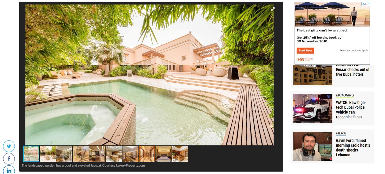 dh 28m Emirates Hills mansion