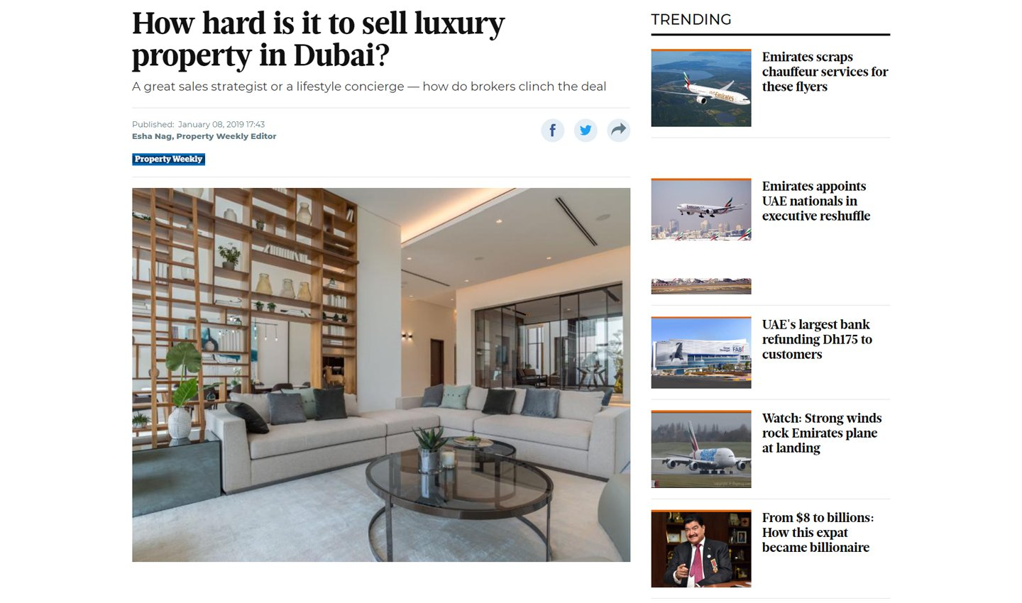 How hard is it to sell luxury property in Dubai?