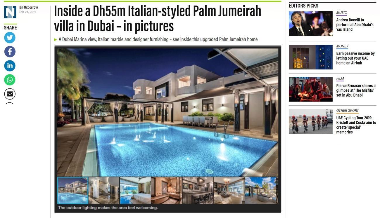 Inside a Dh55m Italian-styled Palm Jumeirah villa in Dubai